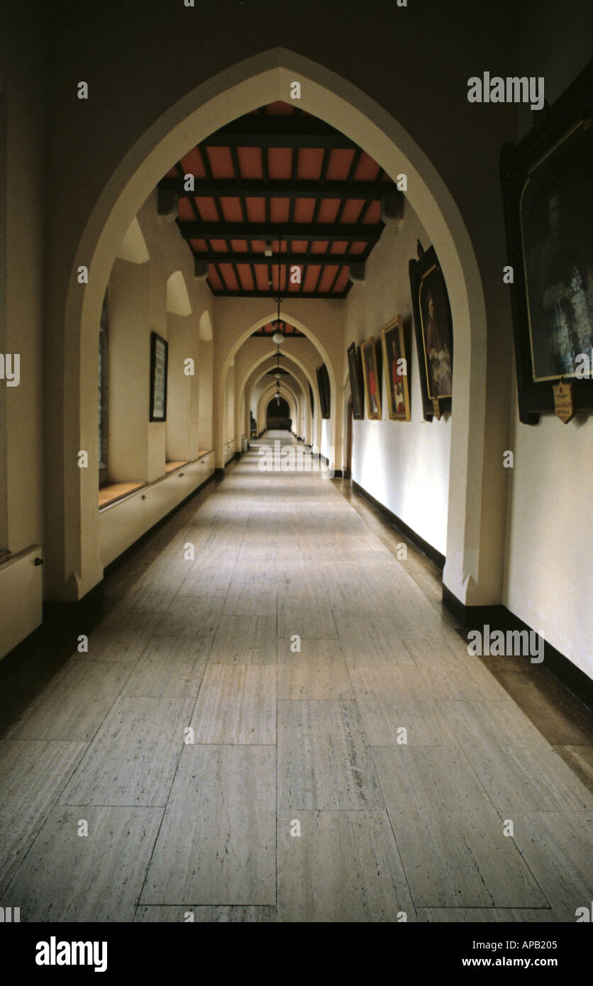 Cloister in Maynooth College Co Kildare - Stock Image