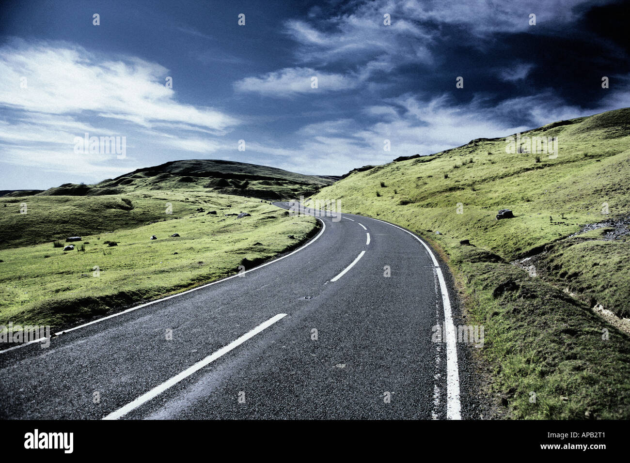 A countryside road - Stock Image