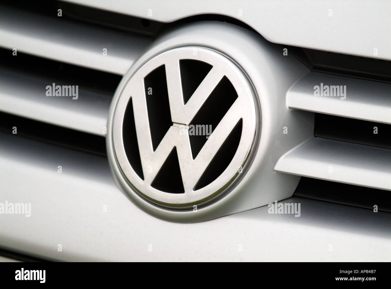 volkswagen car badge vw car german car maker manufacturer audi petrol internal combustion engine Stock Photo