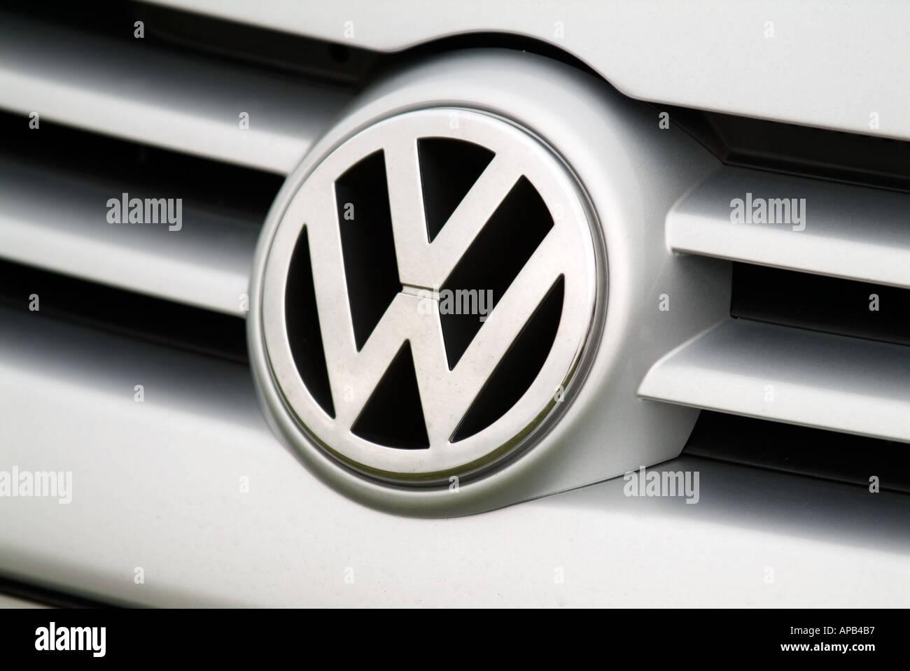 volkswagen car badge vw car german car maker manufacturer audi petrol internal combustion engine - Stock Image