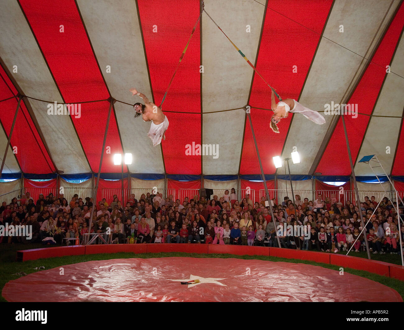 Performers at a circus Stock Photo