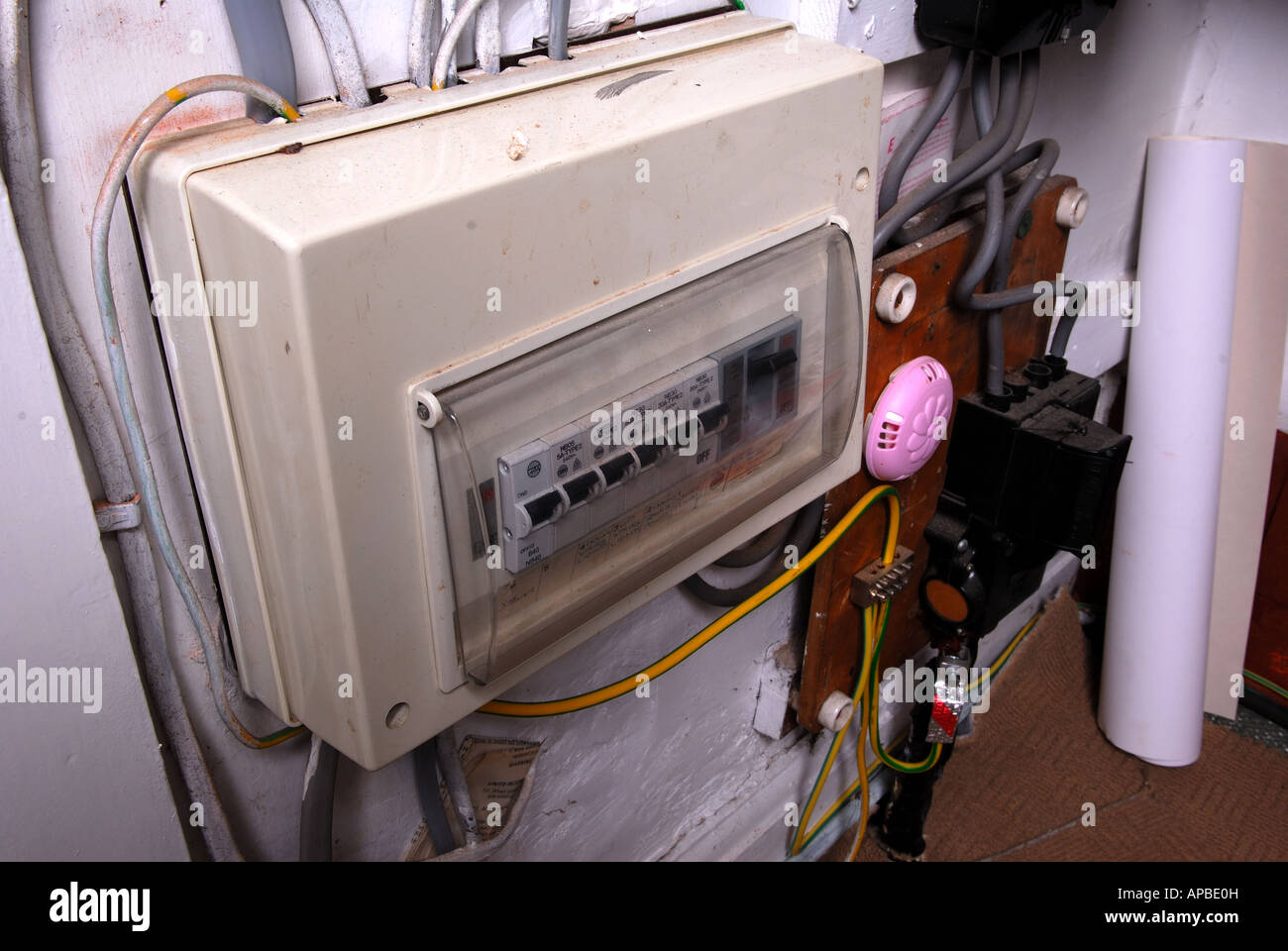 Fuse Box Home Wiring Library Electrical Stock Image