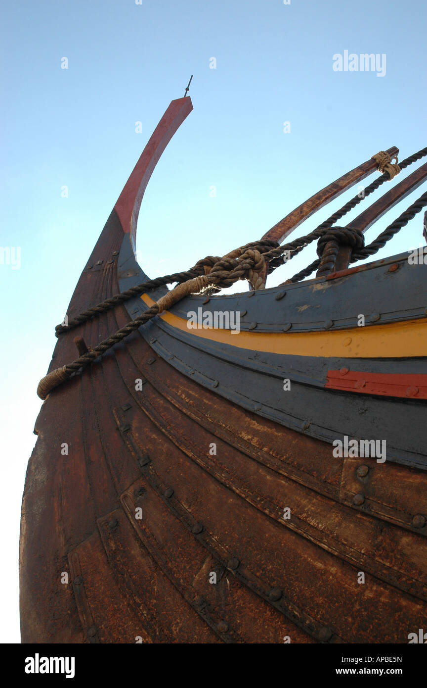 The Viking Ship Sea Stallion from Glendalough. Sailed from Norway to Dublin August 2007 - Stock Image