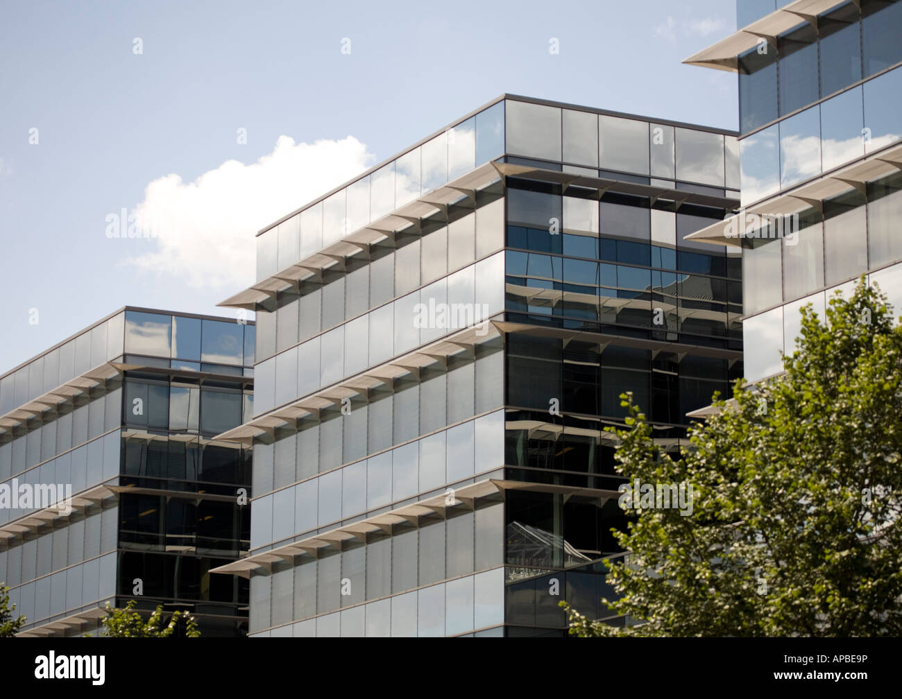 three office blocks - Stock Image