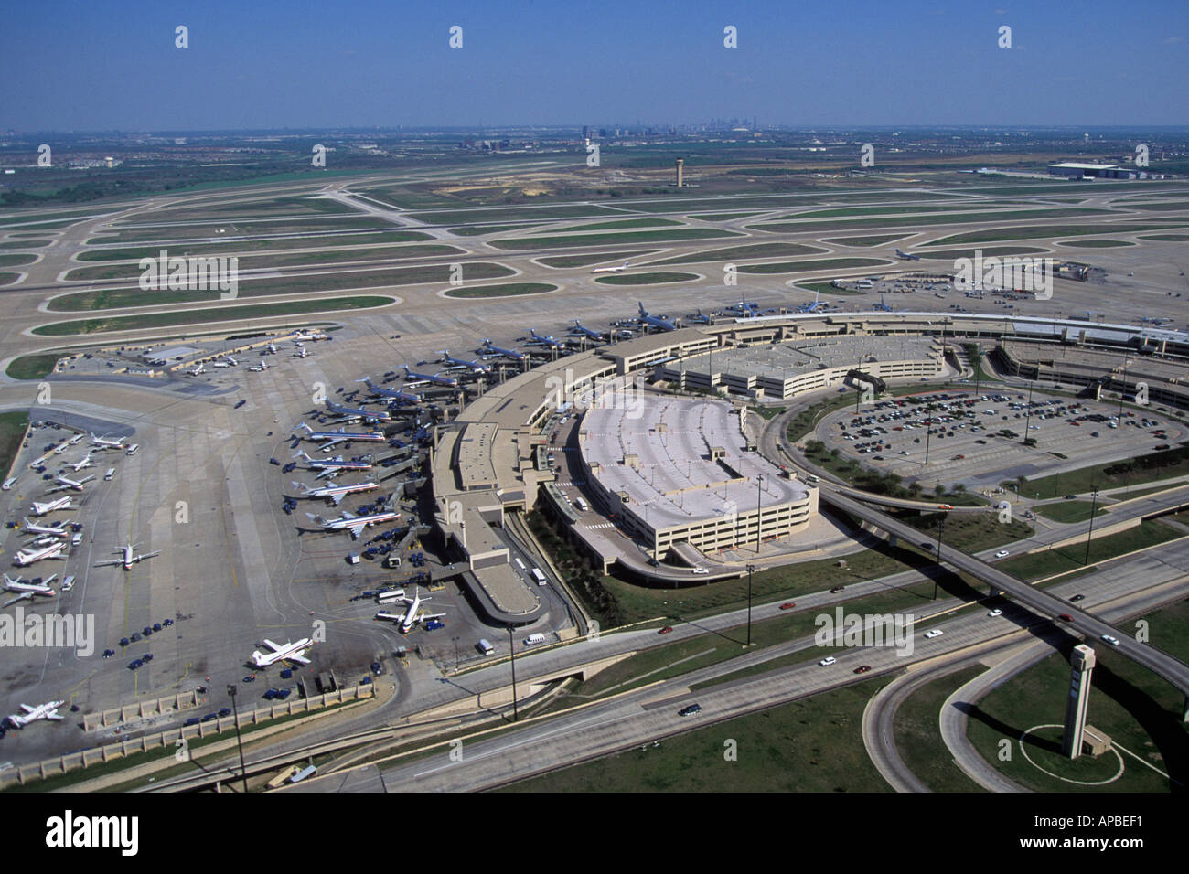 Aerial View Of Dfw Dallas Fort Worth Airport Texas Stock