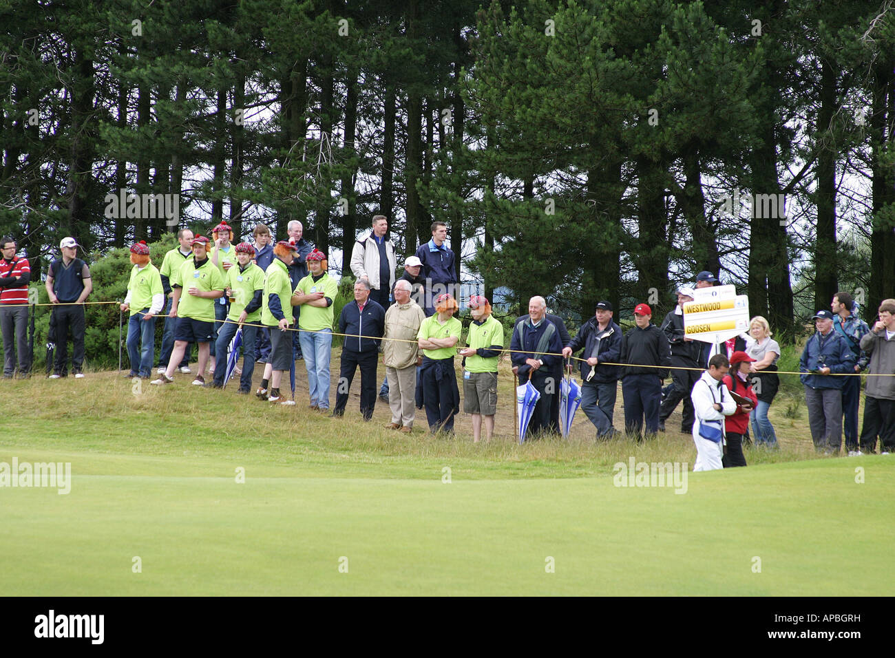 Golf fans at British open golf championship 2007 Carnoustie - Stock Image