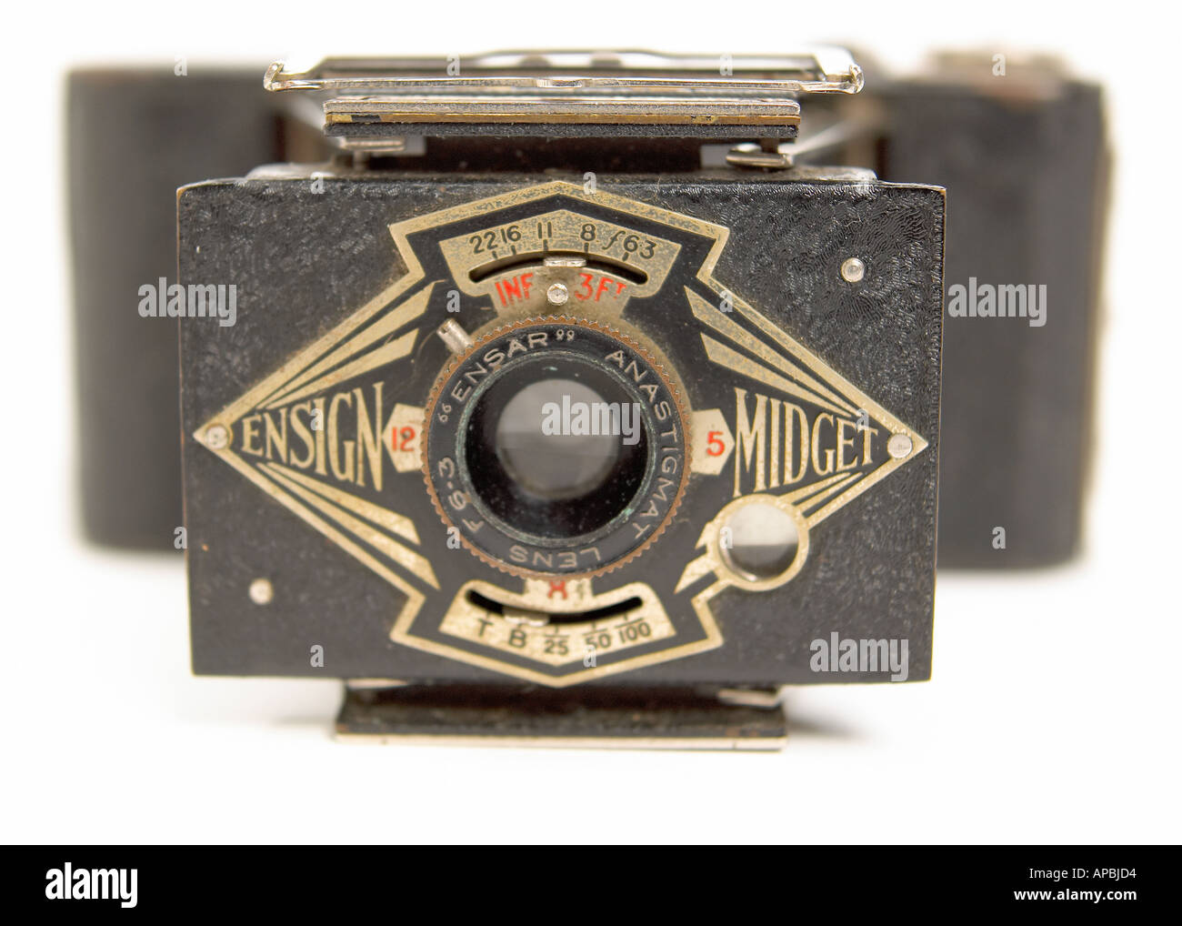 Old Fashioned style bellowed Camera - Stock Image