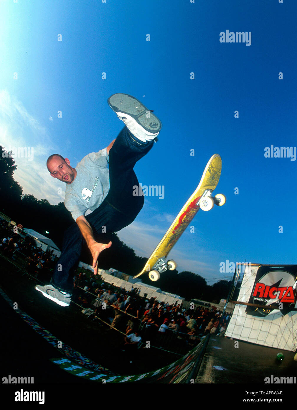 Simon Skip at the Sprite Urban Games Clapham Common London - Stock Image