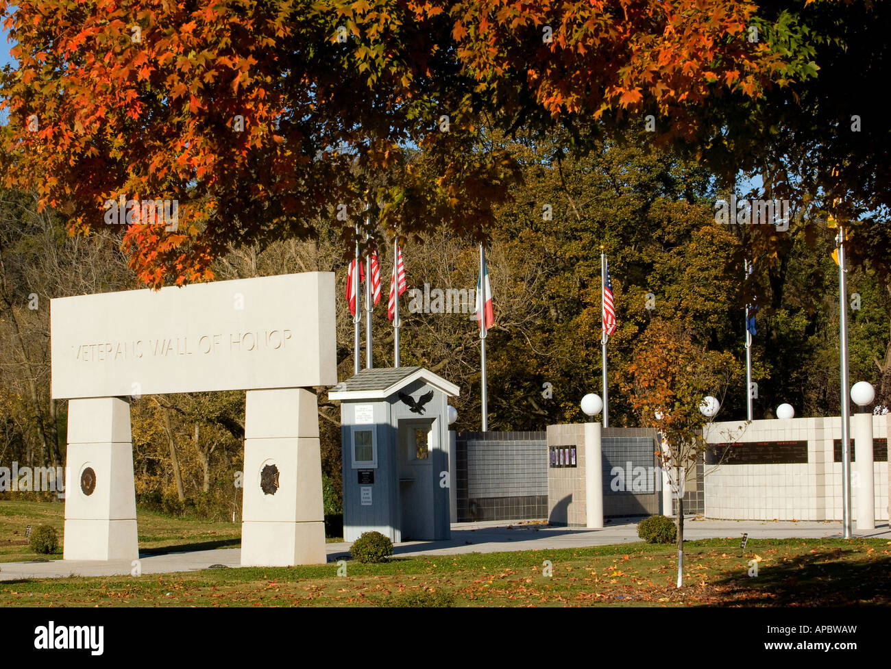 The Veterans Wall of Honor in Bella Vista, Ark. - Stock Image
