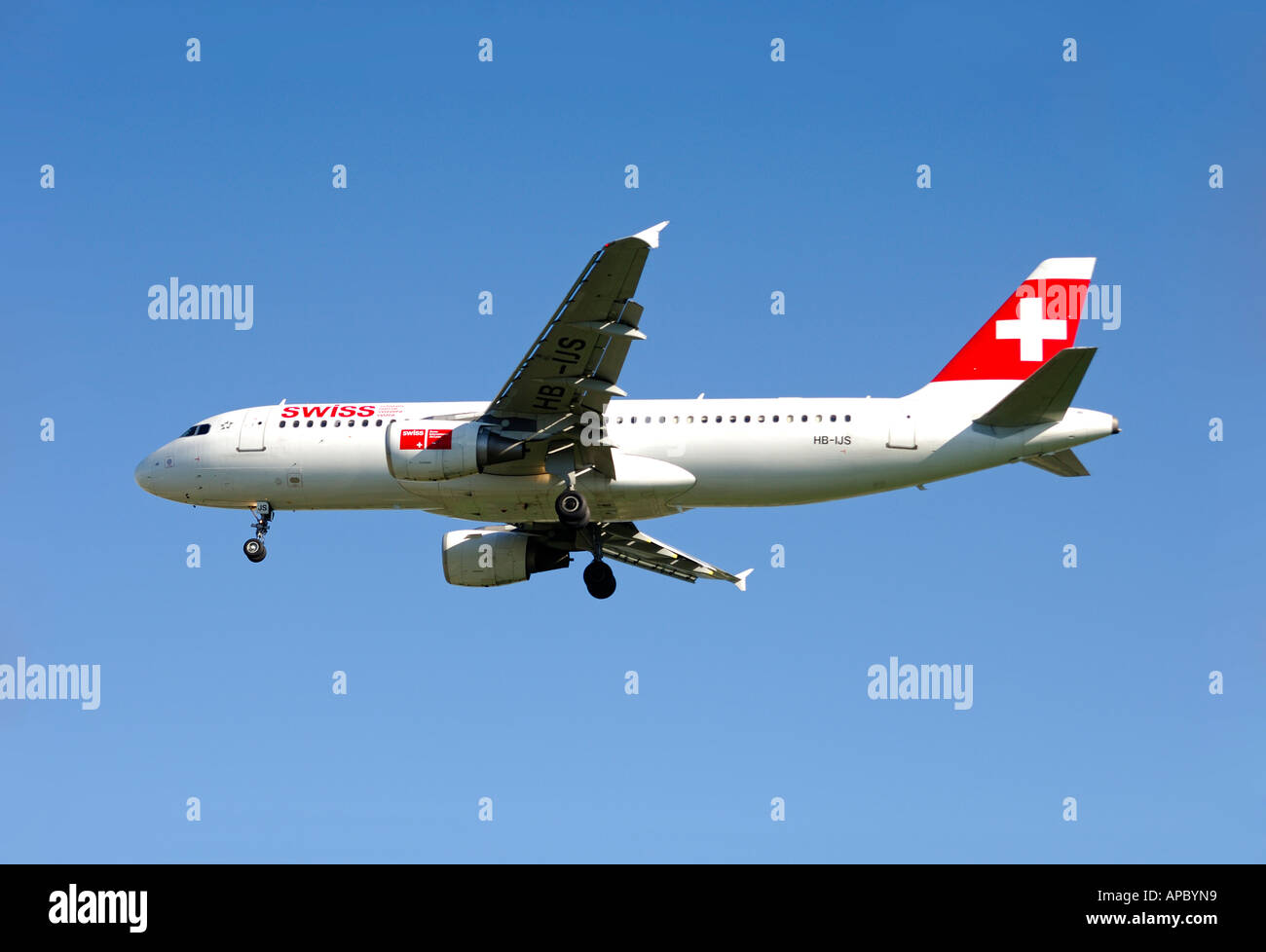 Airbus A320-214, Swiss International Air Lines, Switzerland - Stock Image