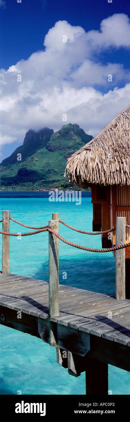 Overwater Bungalow, Bora Bora, French Polynesia - Stock Image