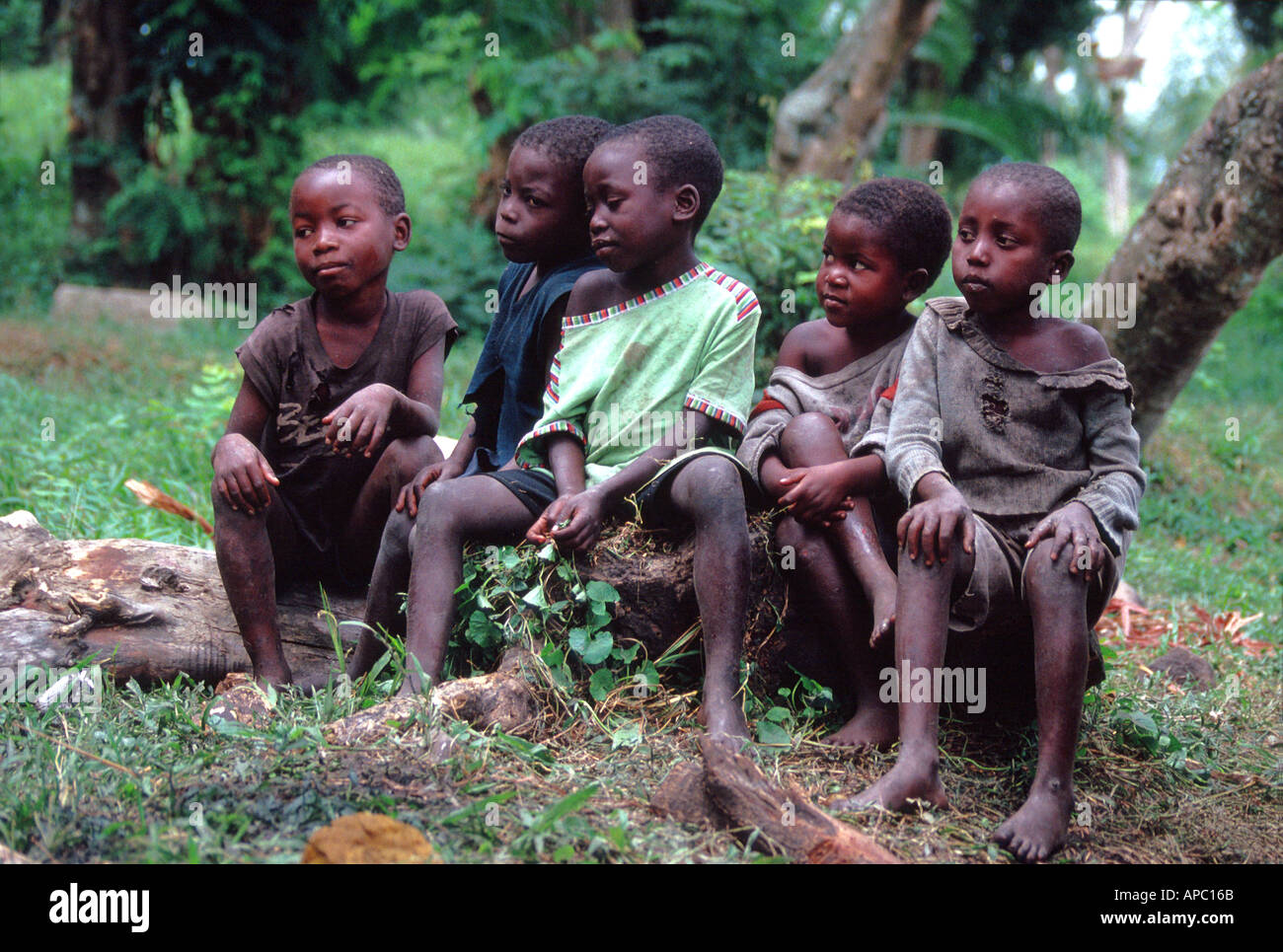 Children D R Congo Zaire Central Africa - Stock Image