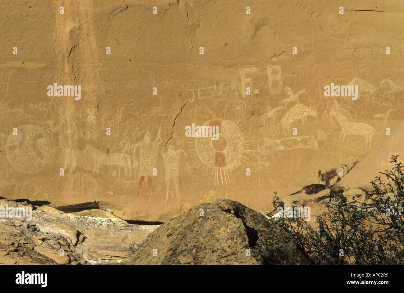 Native american or indian rock art, Sego Canyon, Utah, USA Stock ...