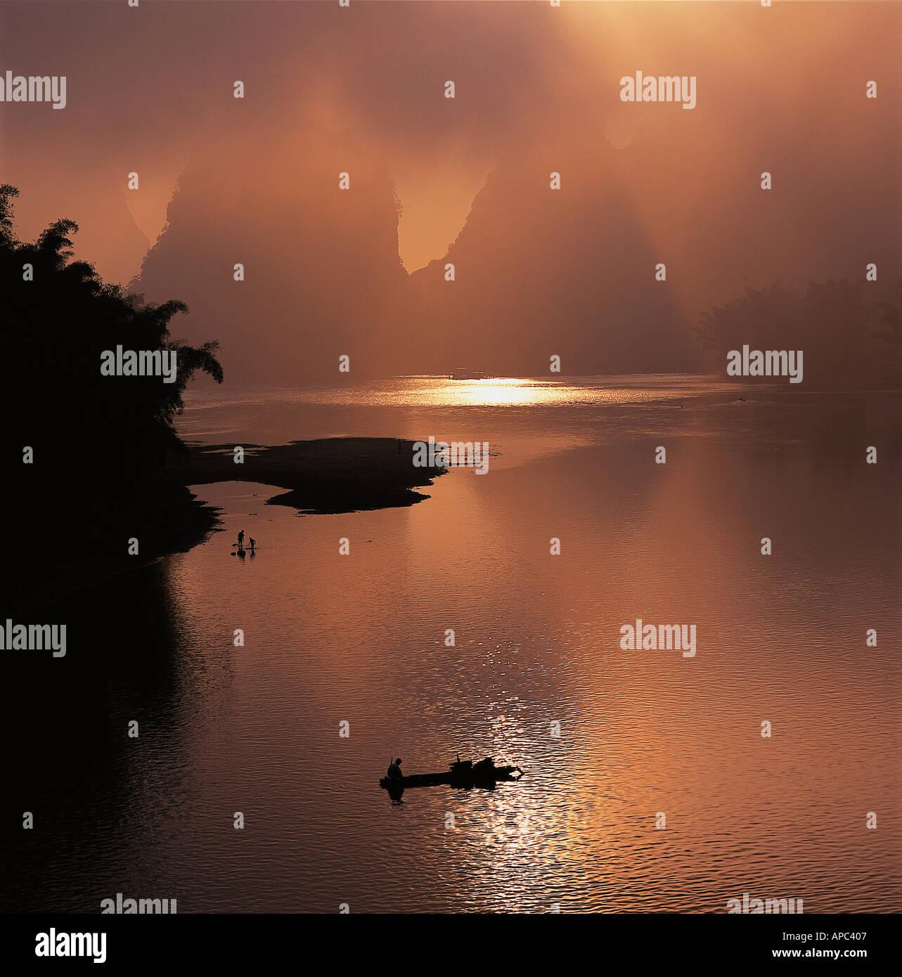 Li River Guilin Guang xi China Stock Photo