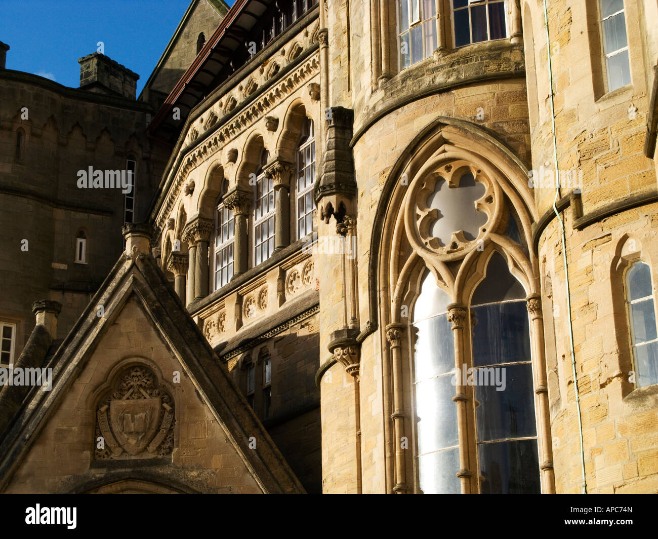 Exterior Detail Of The Old College Building Aberystwyth University Victorian Gothic Architecture