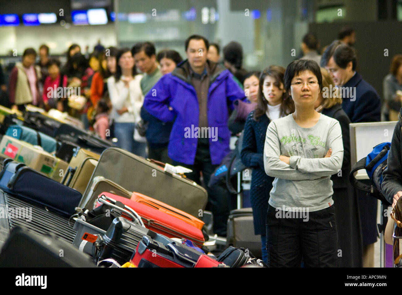 Baggage Claim Luggage Carrousel Hong Kong International