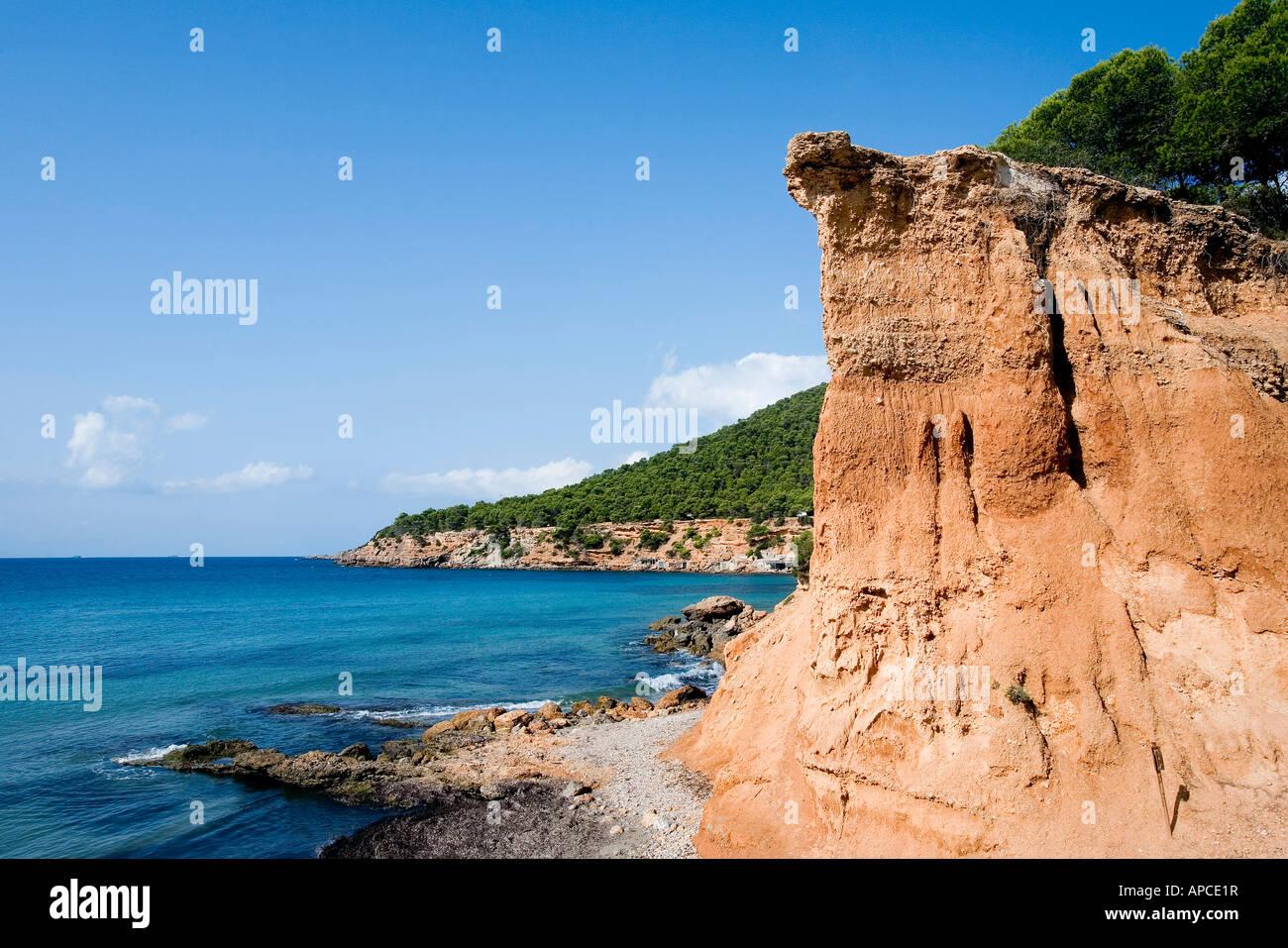 Sa Caleta, Ibiza, Balearic Islands, Spain - Stock Image