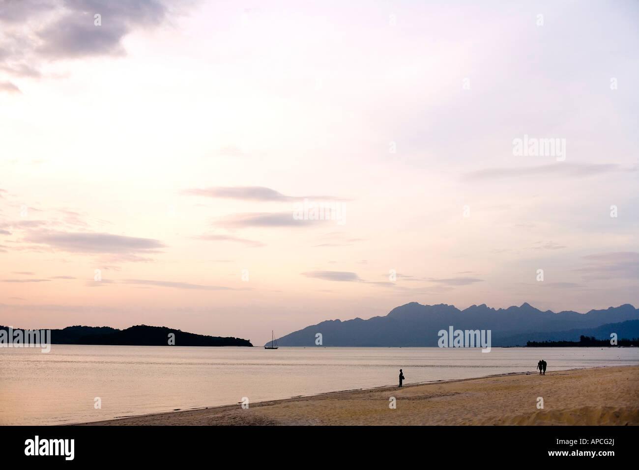 Pantai Tengah beach,  Langkawi Island, Malaysia - Stock Image