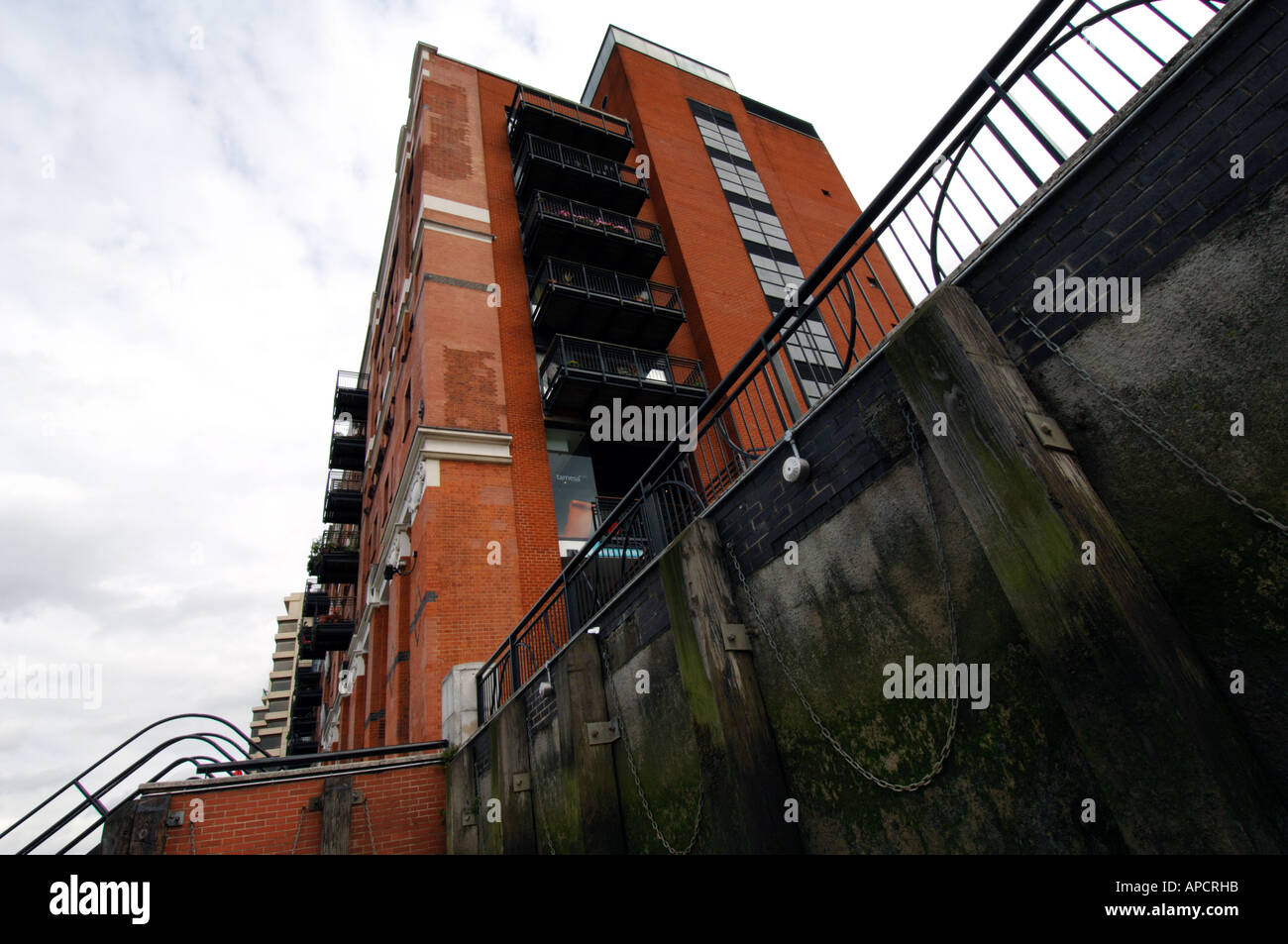 the oxo tower / buildings on the south bank of the river thames london england uk - Stock Image