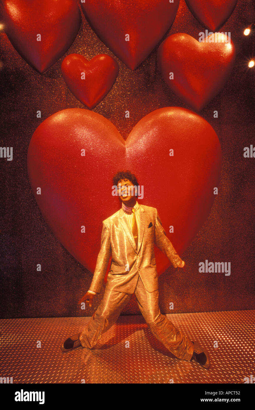 Wax sculpture of Little Richard at Madame Tussaud s wax museum in Las Vegas Nevada United States of America - Stock Image