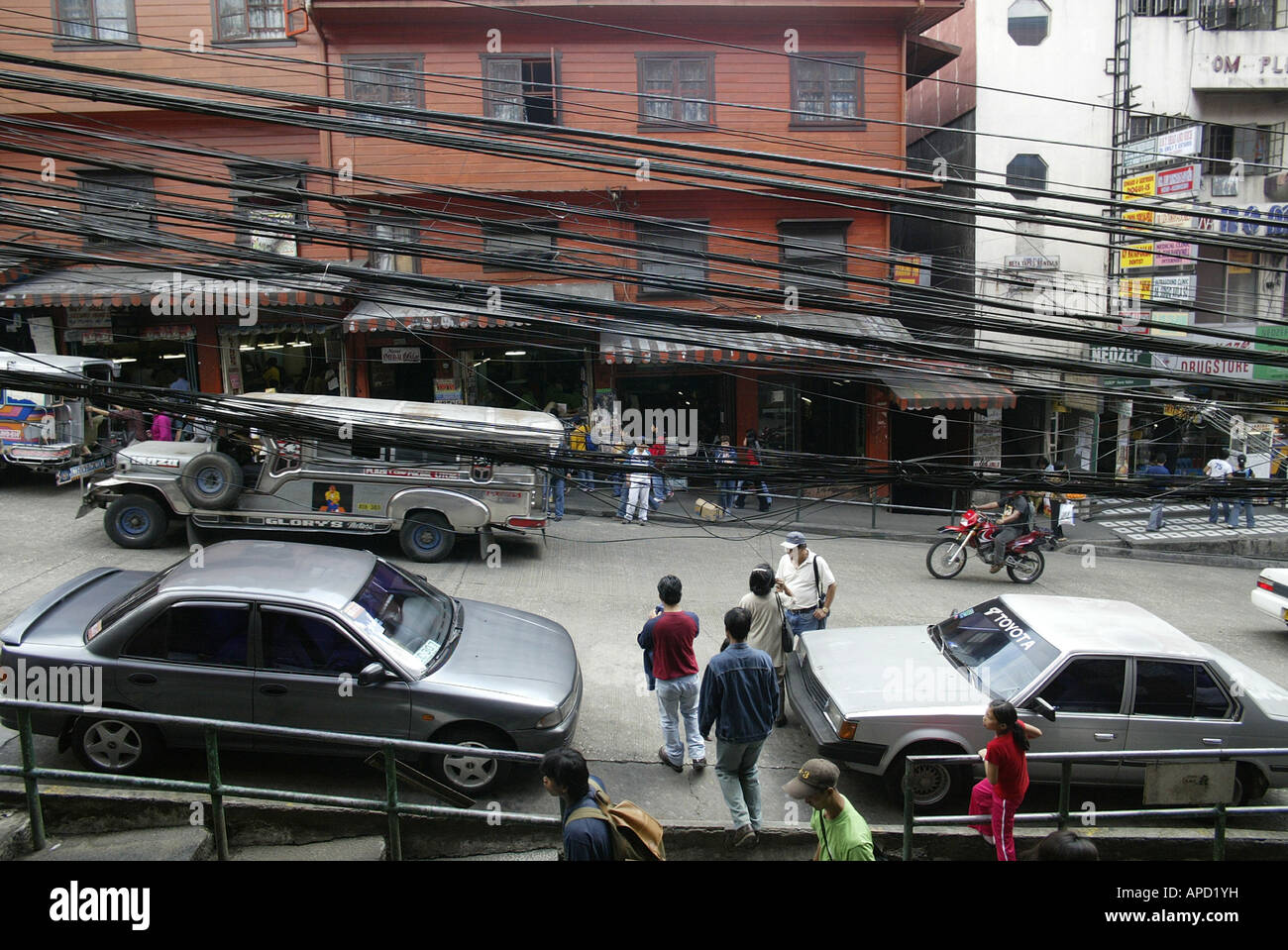 A street scene in Baguio City, Philippines. Stock Photo
