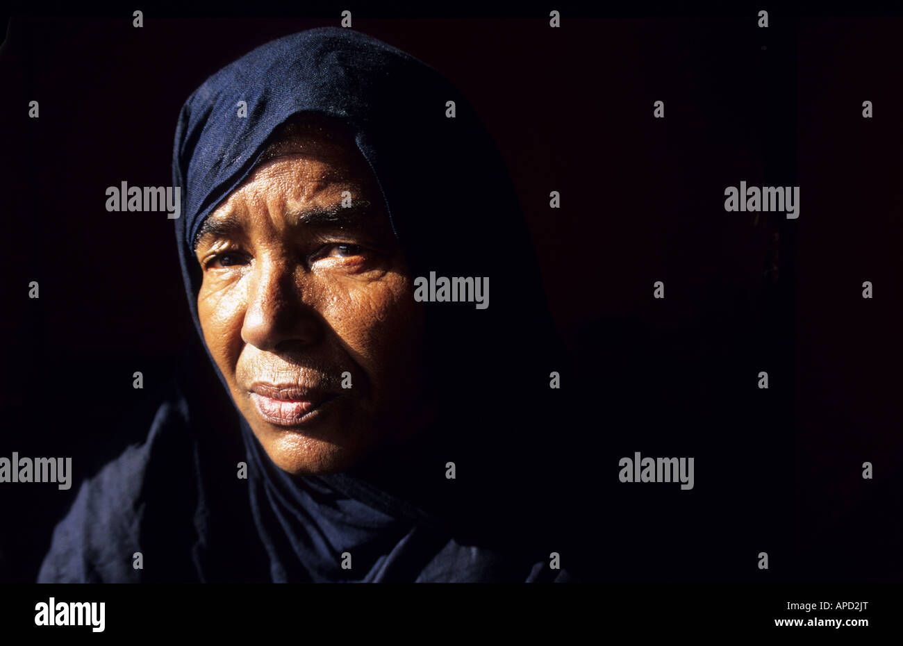 A Saharawi women at the Saharawi refugee camp of Tindouf Algeria photo quintina valero - Stock Image