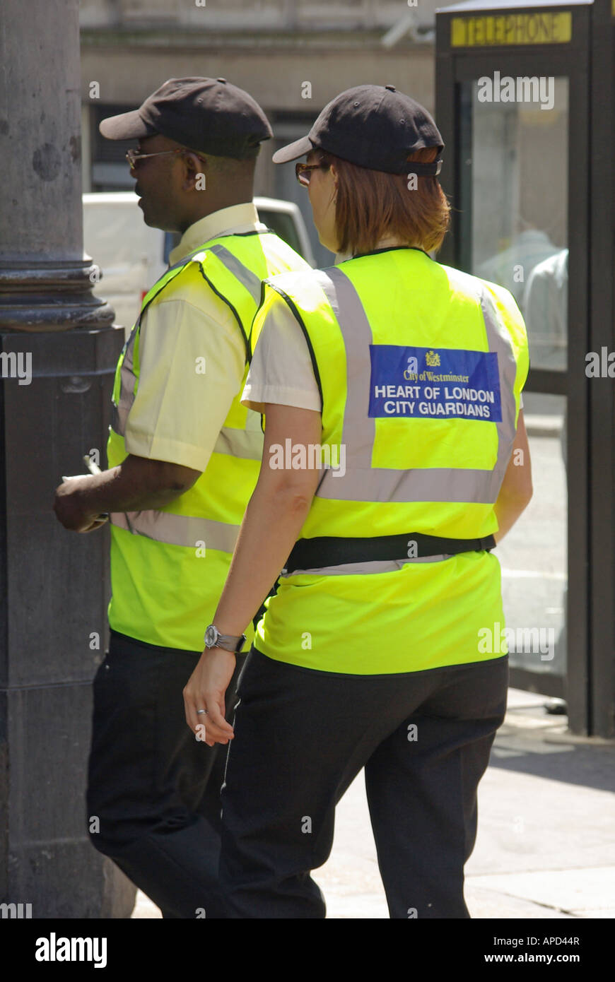 Heart of London City Guardians foot patrol run by City of Westminster Council - Stock Image