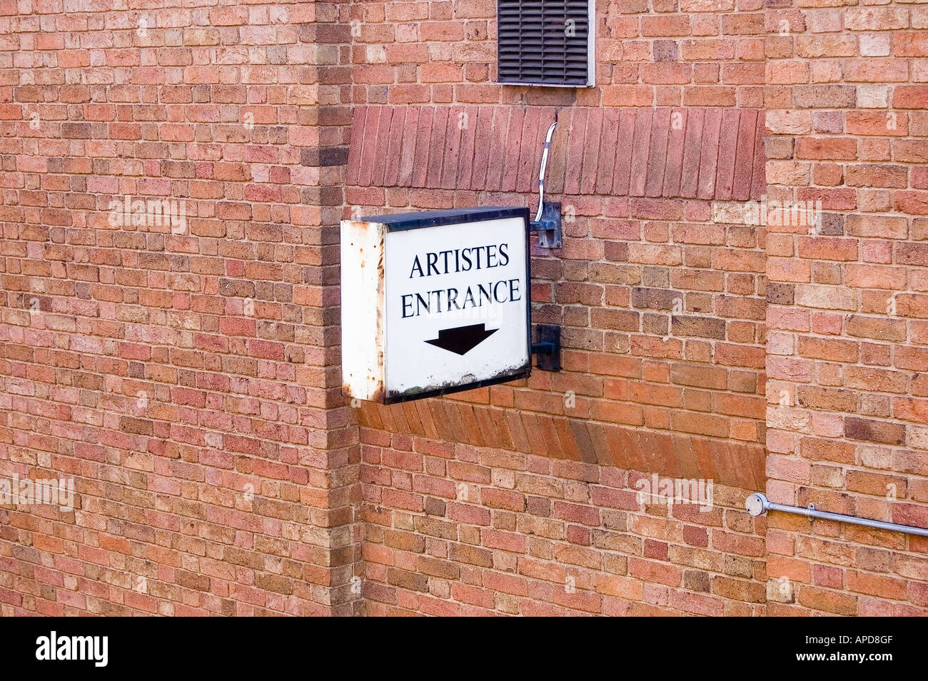 Artistes Entrance - Stock Image