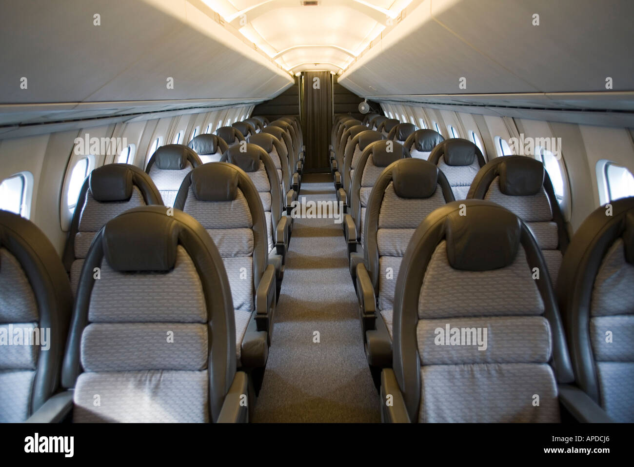 Wonderful The Interior Of Restored Concorde At Brooklands Aviation Museum, UK   Stock  Image