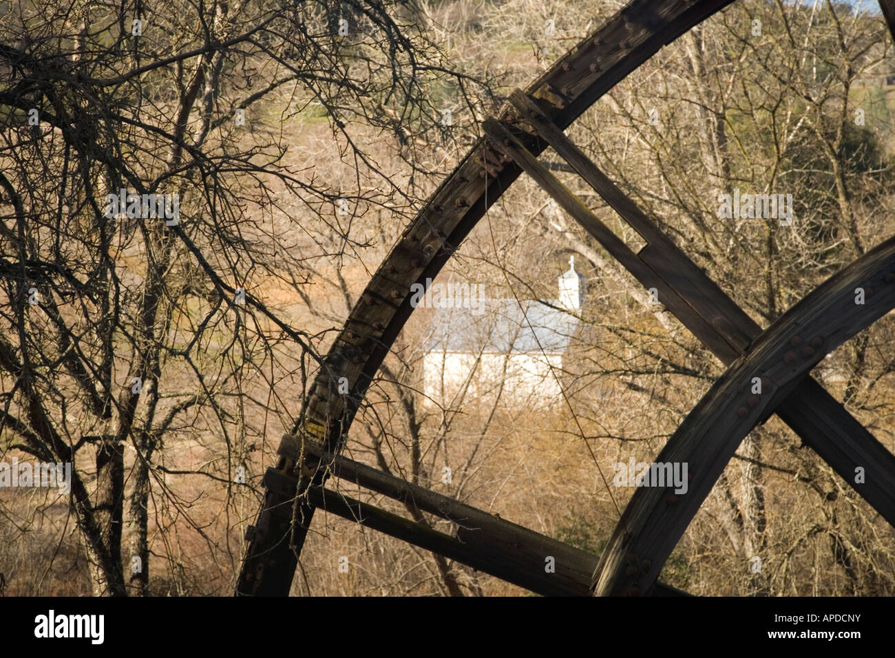 Kennedy Mine  'Tailings' Wheel. - Stock Image
