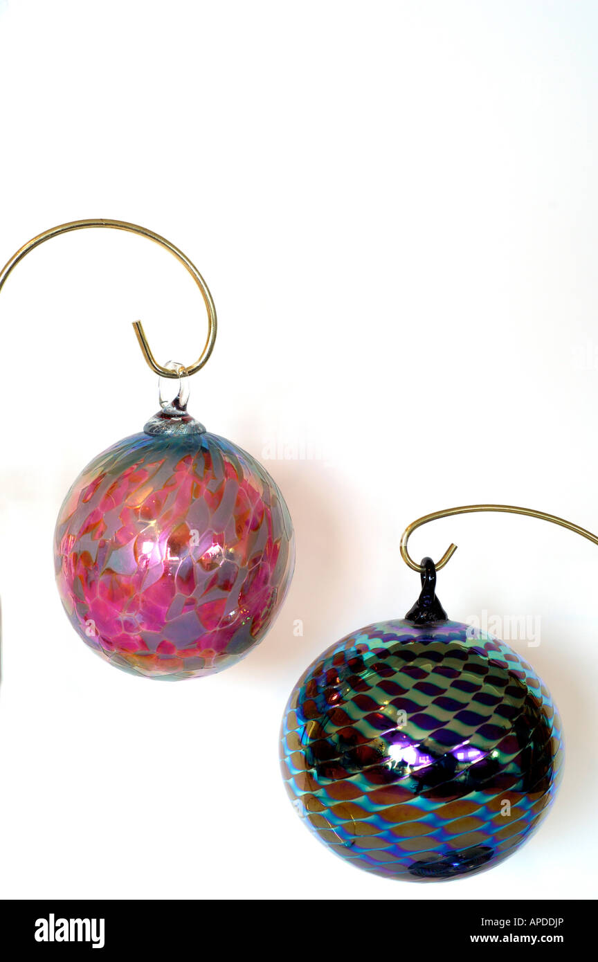 Holiday Still Life Hand Blown Glass Christmas Ornaments Property