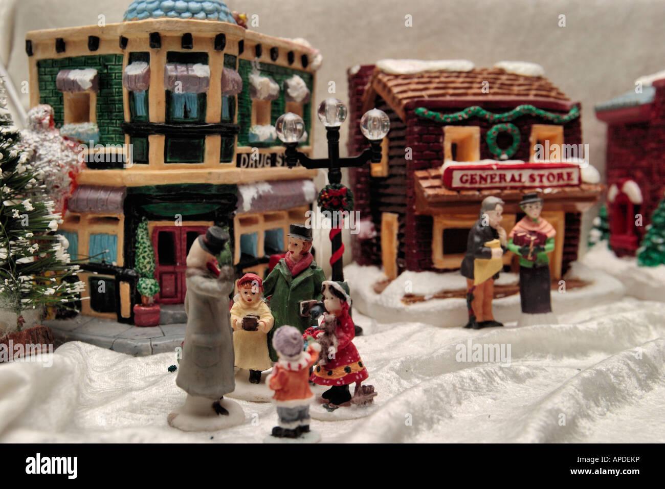 Christmas Miniatures.Christmas Miniatures Stock Photos Christmas Miniatures