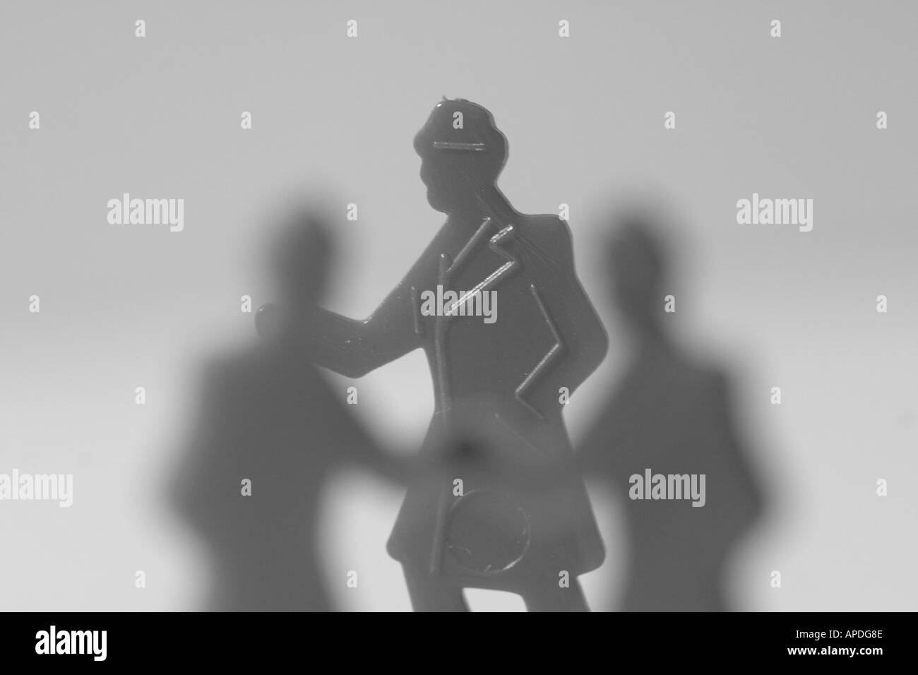 man in a crowd - Stock Image