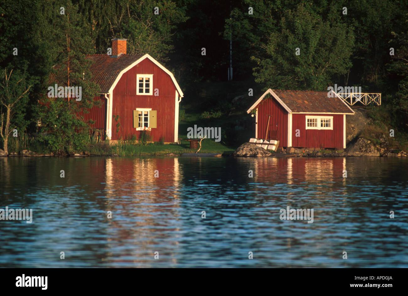 Schwedisches Sommerhaus Schweden - Stock Image