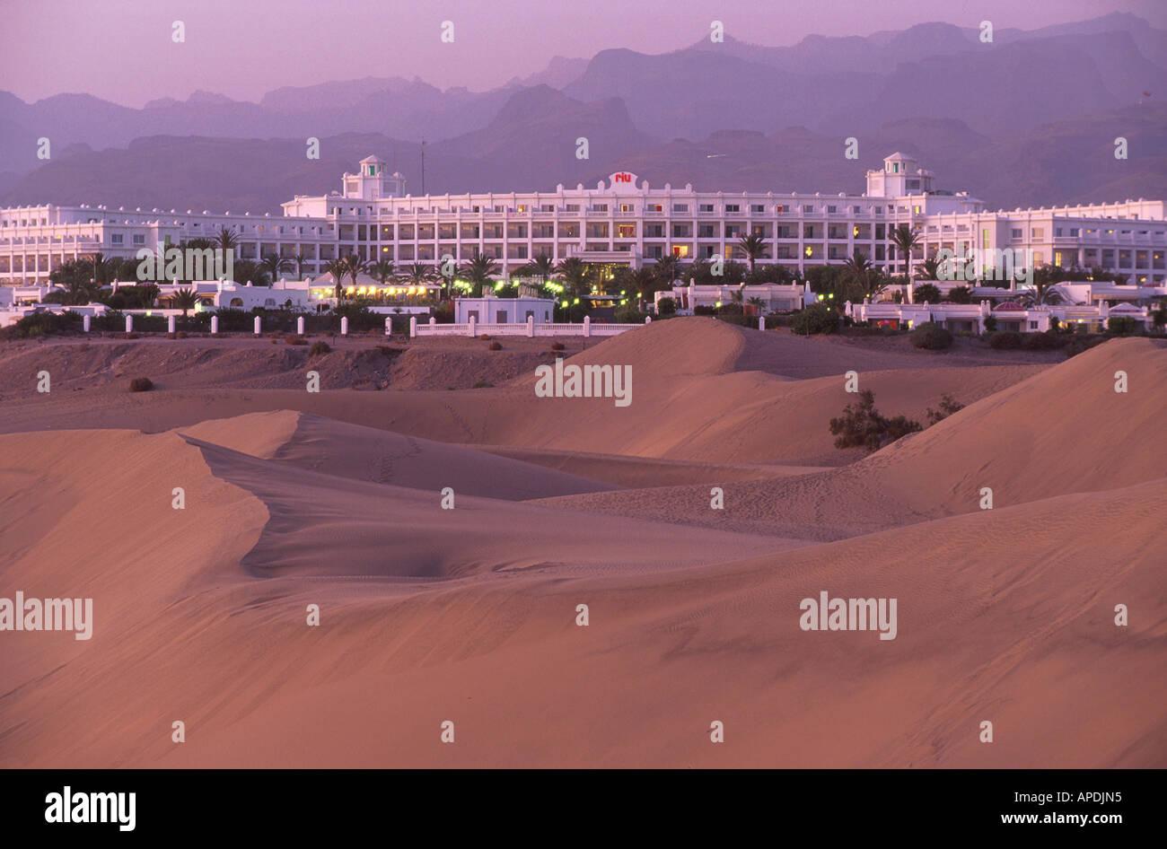 Hotel Riu Palace, Duenen, Maspalomas, Gran Canaria Kanarische Inseln, Spanien - Stock Image