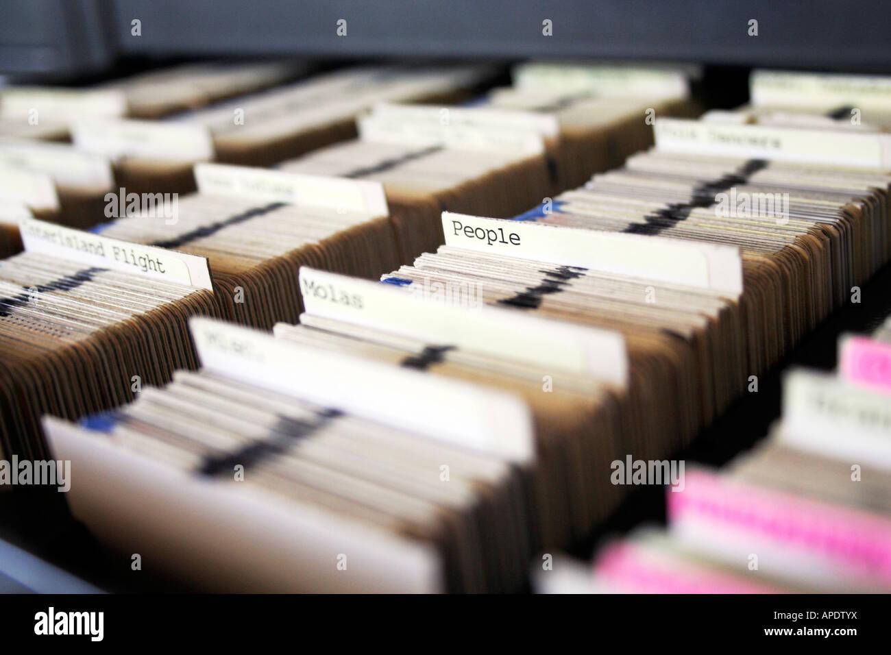 Large slide catalog archive - Stock Image