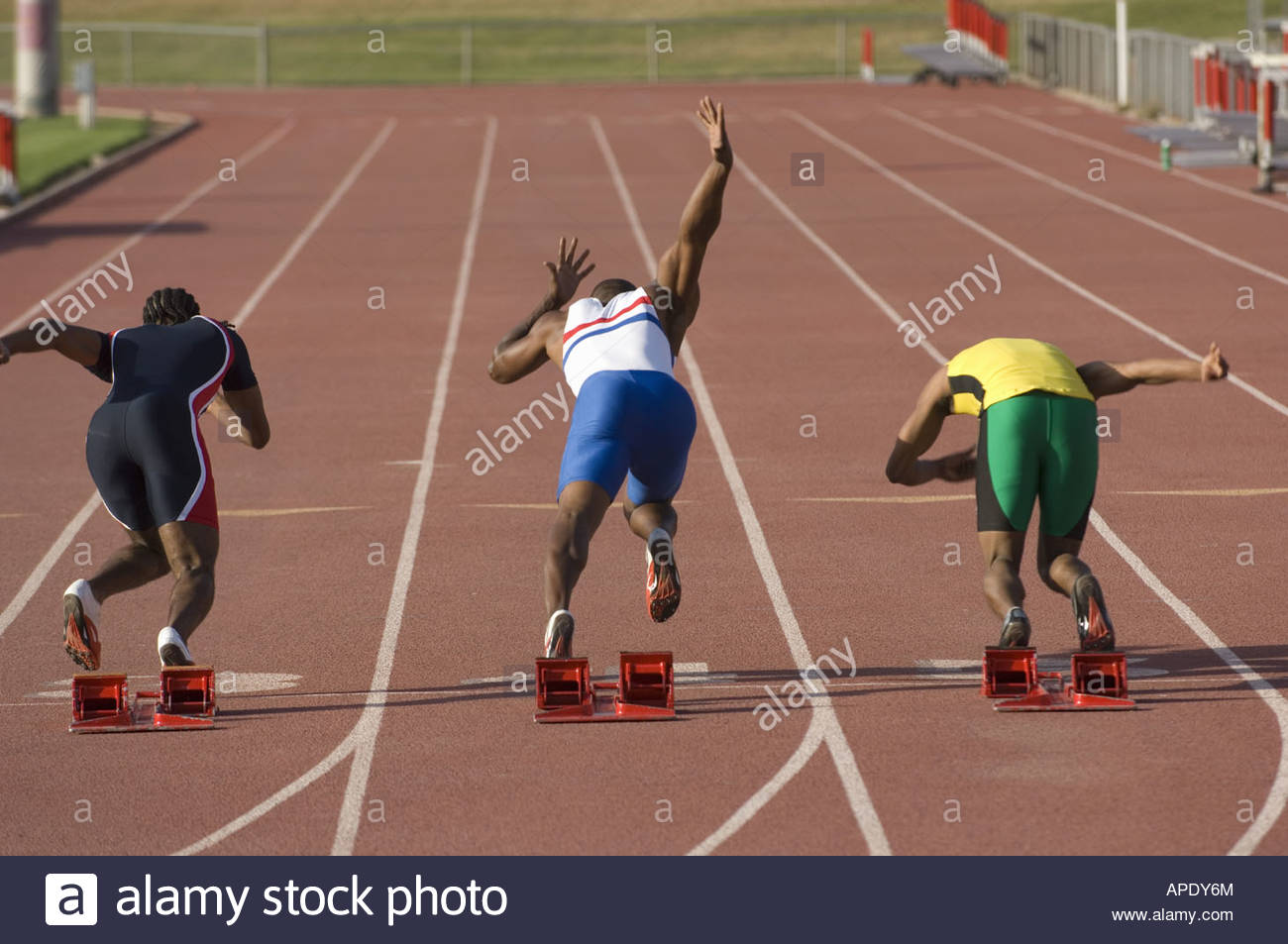 African male athlete with arms crossed - Stock Image