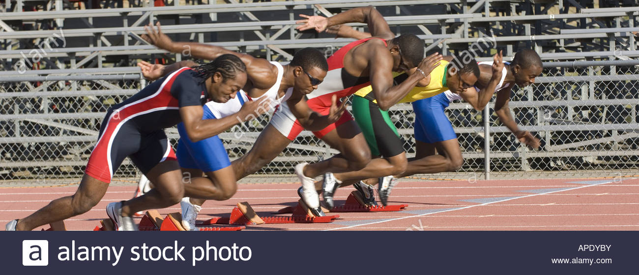 Runners starting to race - Stock Image