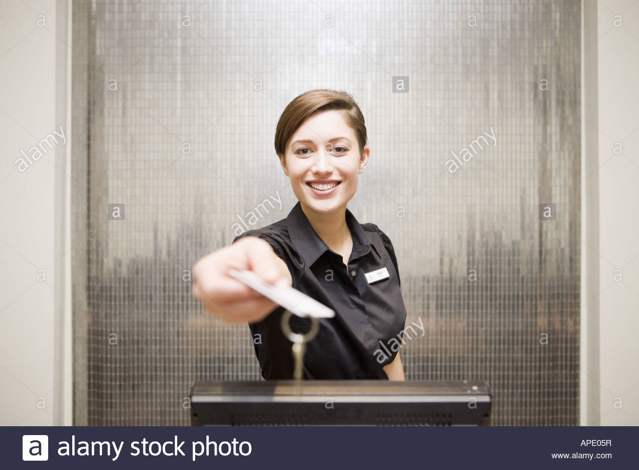 working at a hotel front desk