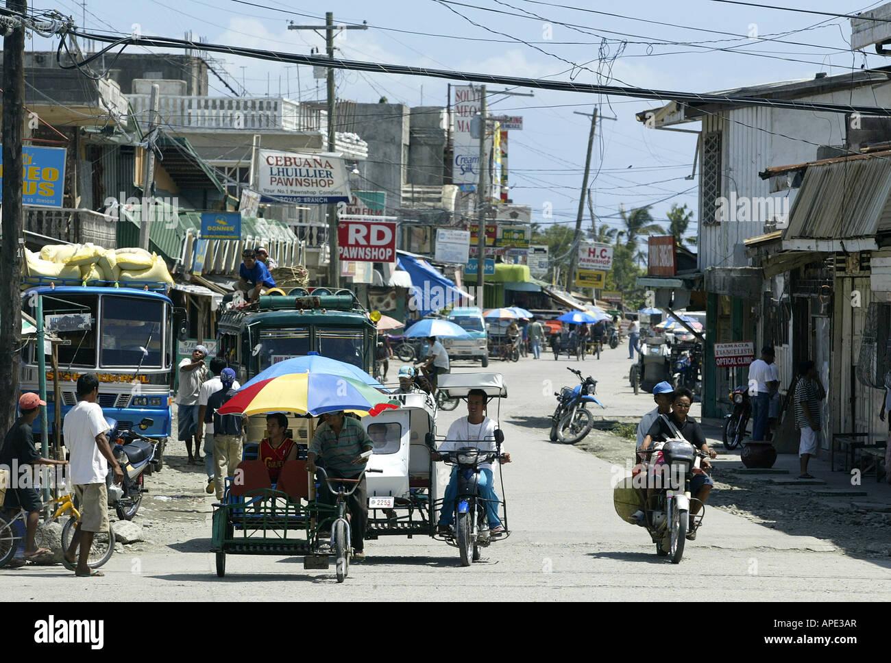 Street scene in Roxas, Oriental Mindoro, Philippines. Stock Photo