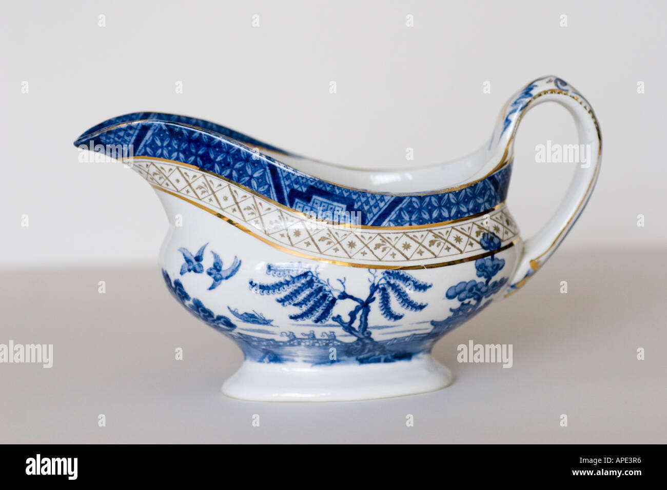 Booths China gravy boat made in England GB UK - Stock Image
