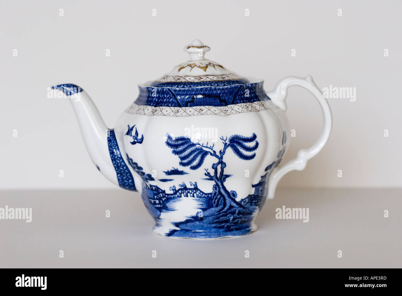 Booths China tea pot made in England GB UK - Stock Image