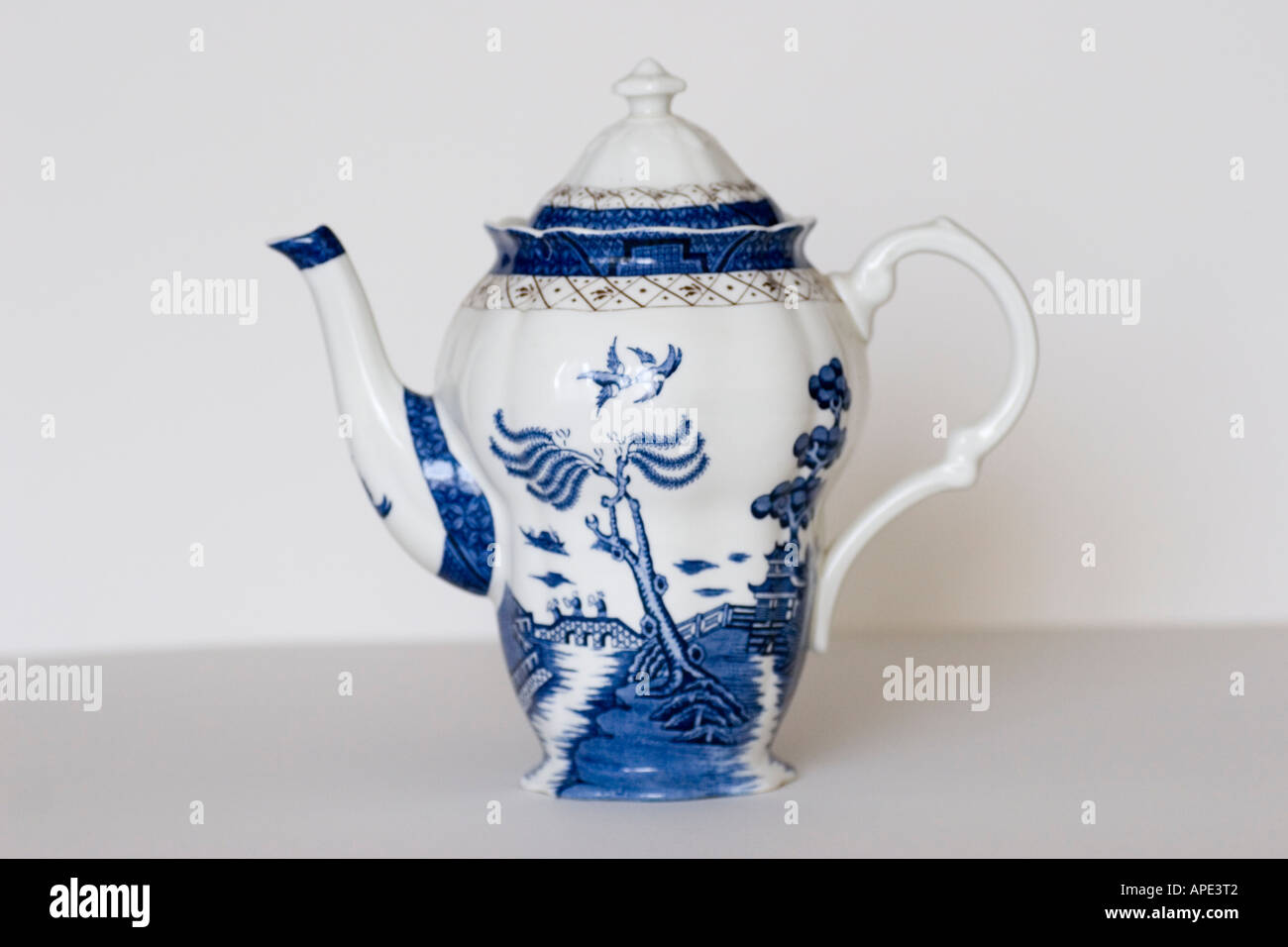 Booths China Coffee pot made in England GB UK - Stock Image