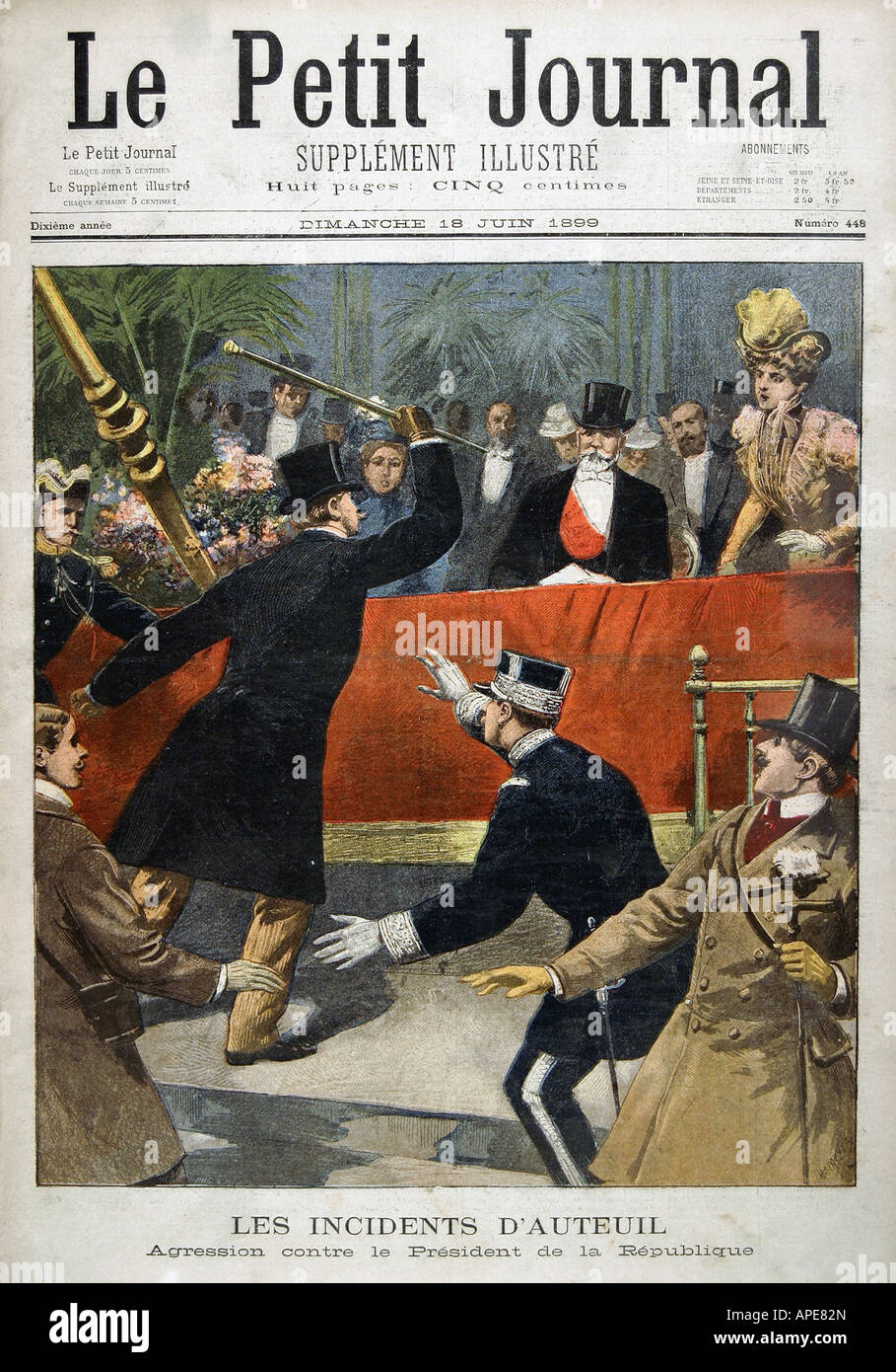 press/media, magazines, 'Le Petit Journal', Paris, 10. volume, number 448, illustrated supplement, Sunday - Stock Image