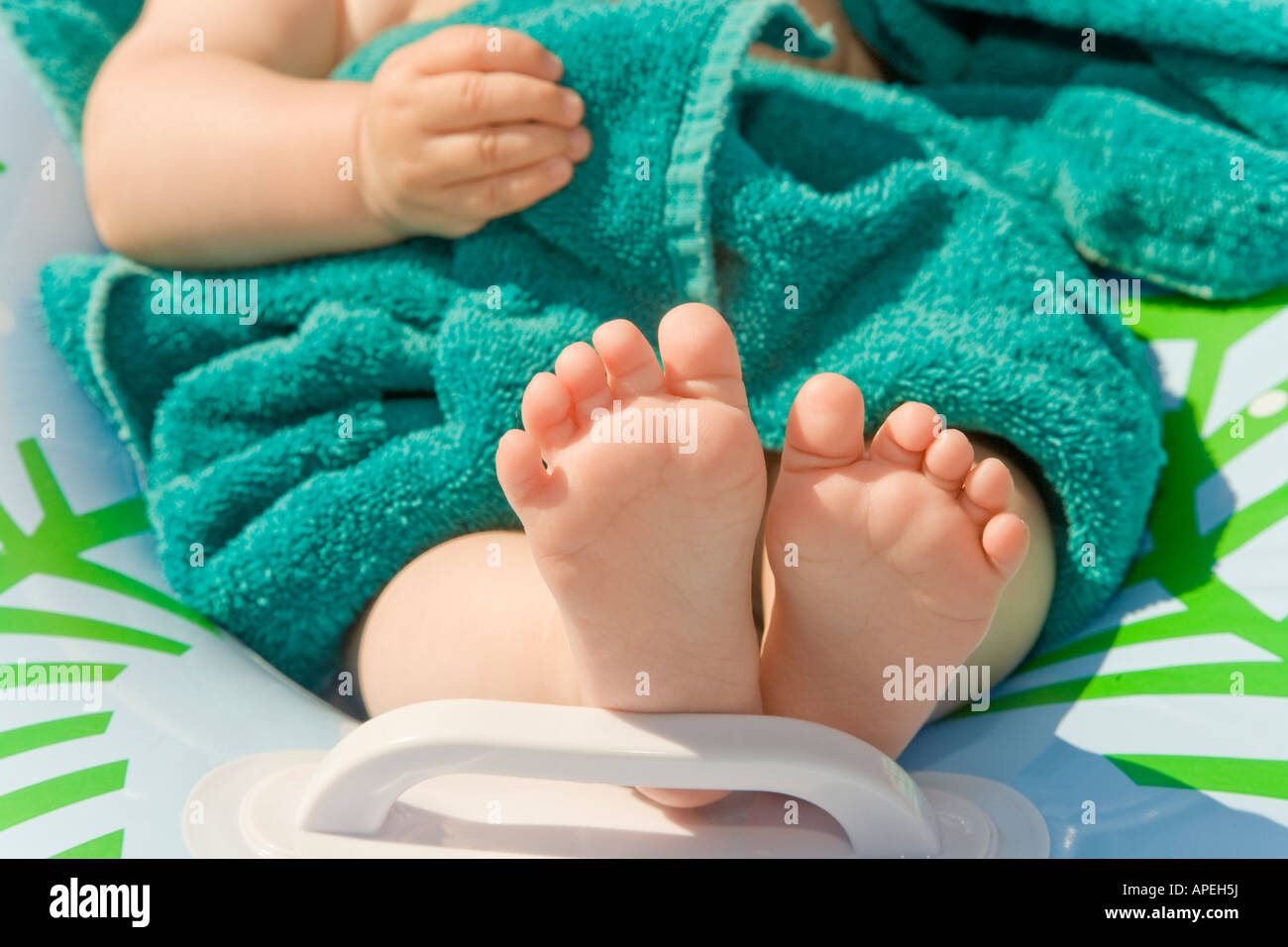 Close up of baby's bare feet Stock Photo