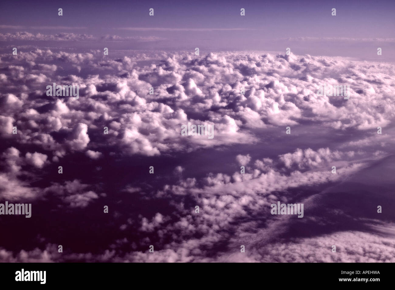 Looking Down on a Cloud Layer From a Jet - Stock Image