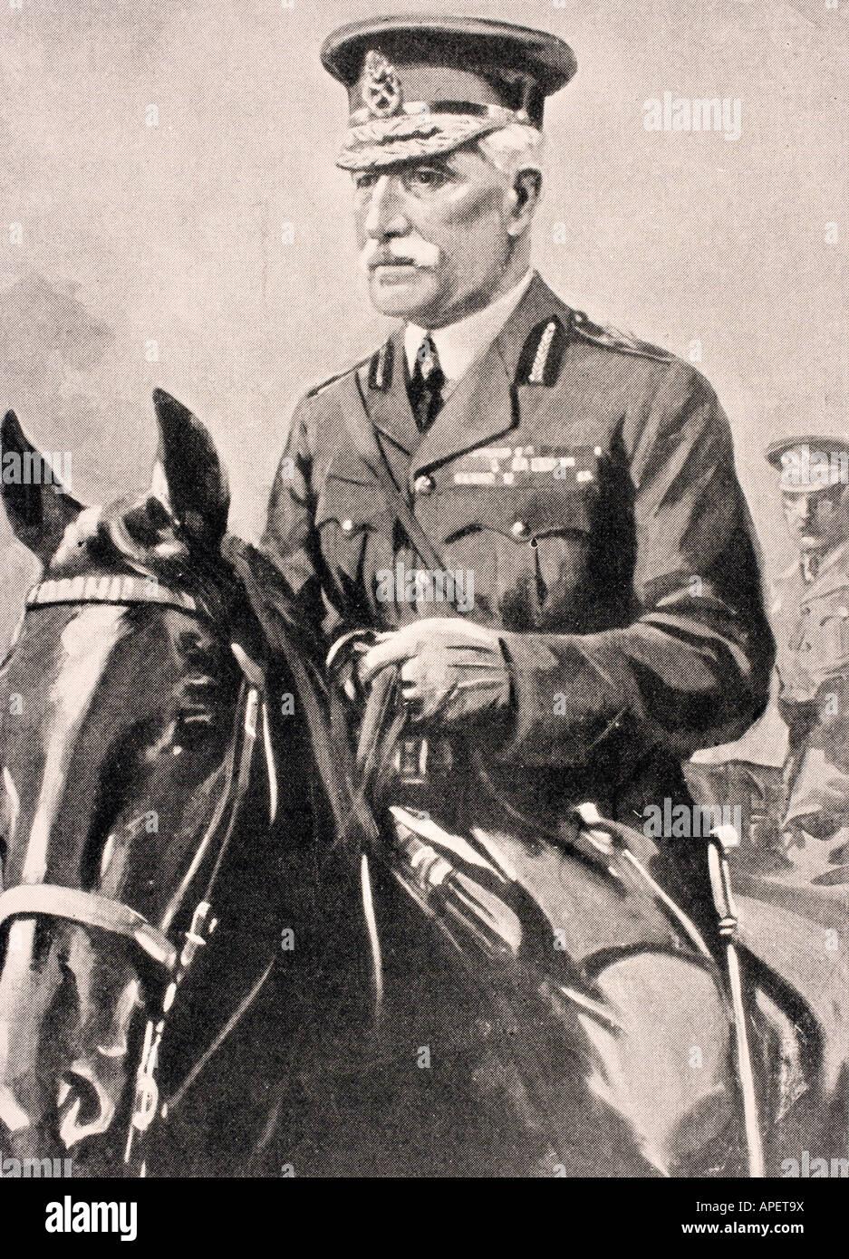 General Sir Horace Lockwood Smith Dorrien 1858 to 1930 British soldier - Stock Image