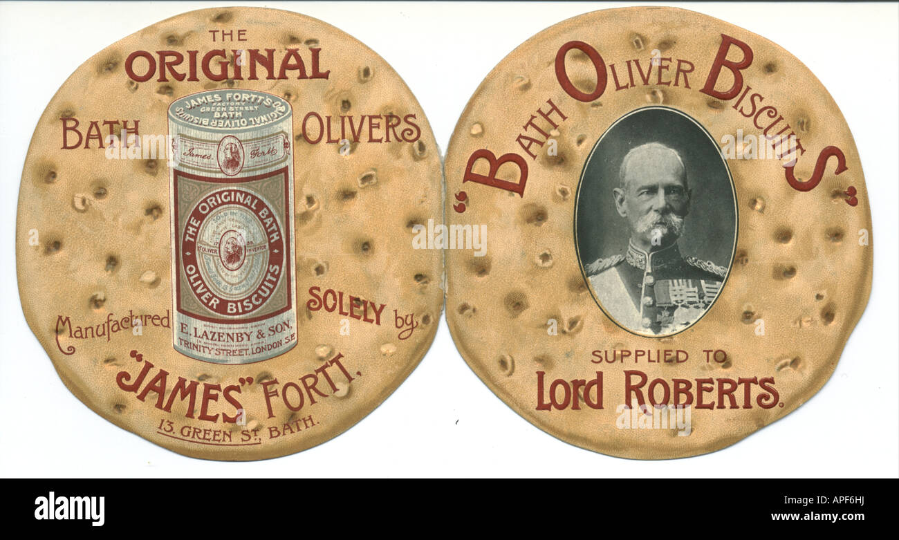 A4BTK0 Bath Oliver biscuits advertisement circa 1900 - Stock Image