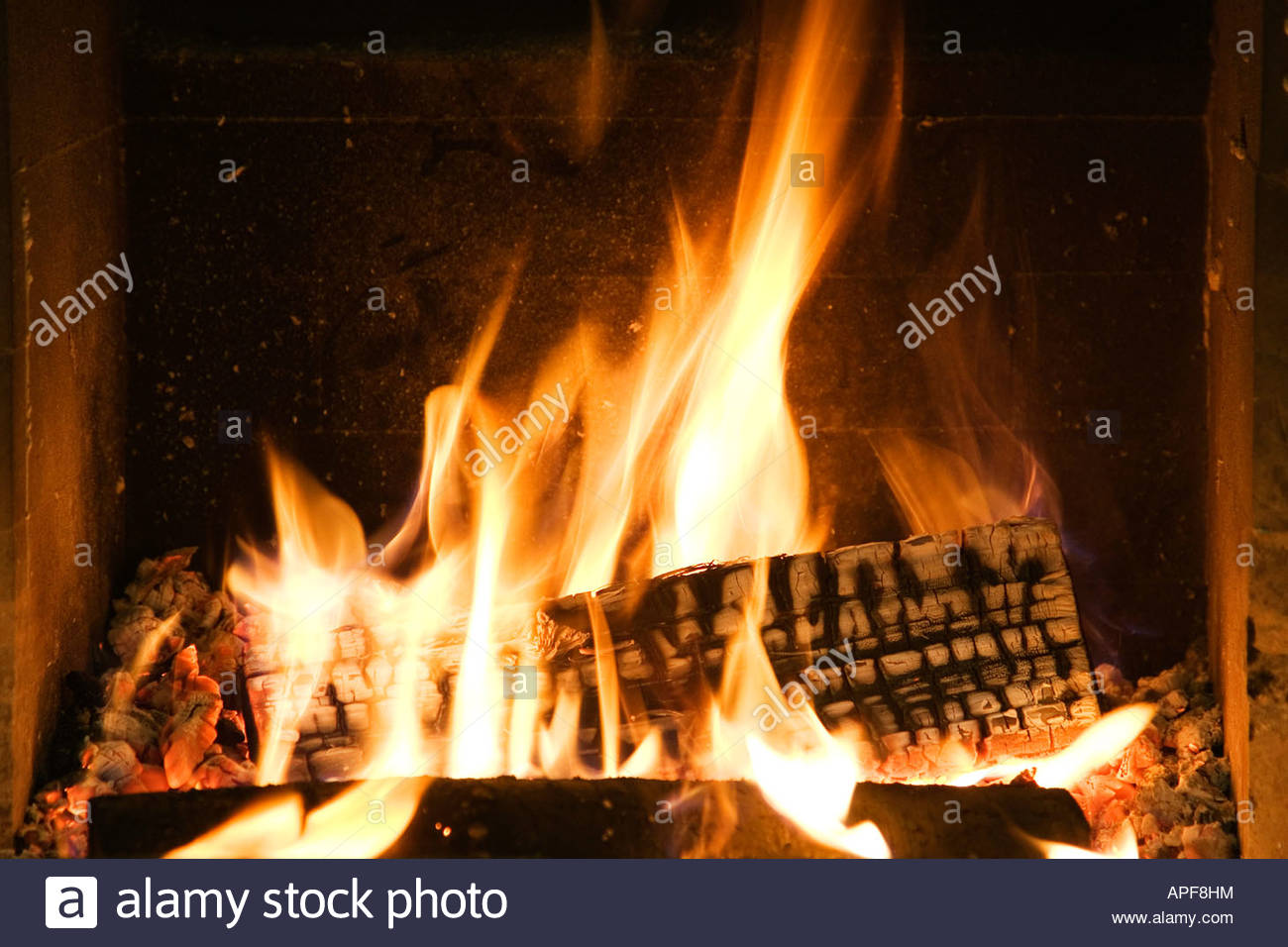 open fire - Stock Image