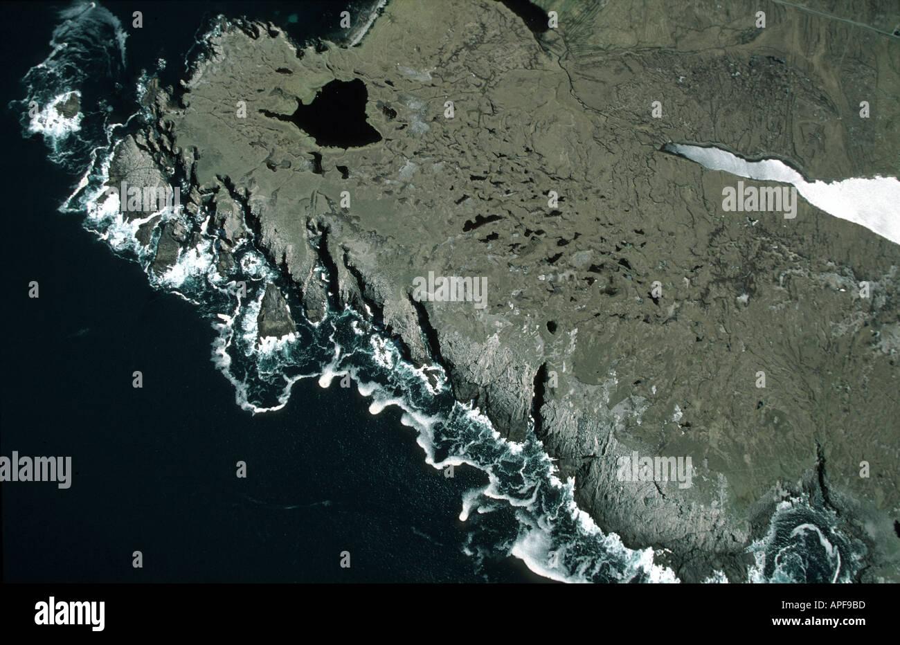Coastline of the Outer Hebrides Scotland - Stock Image